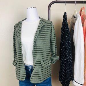 Anthropologie Dolan Striped Jersey Jacket